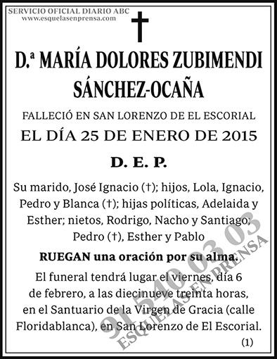 María Dolores Zubimendi Sánchez-Ocaña